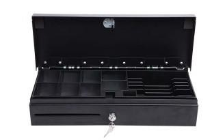 Metal RJ11 / RJ12 Flip Top Cash Drawer Lockable Cash Box With Slot 170A