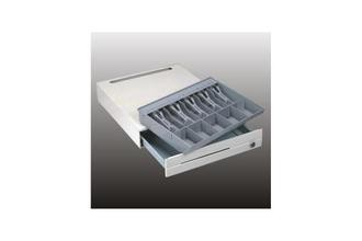 RS232 Heavy Duty Cash Box 4 Bill 8 Coin / Register Electronic Cash Drawer